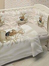 Ipersan Set 5-teilig Bettbezug für Kinderbett bunnies in love  Farbe beige
