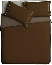 Ipersan zweifarbig Bettbezug kaffee/taubengrau cm.  255x240