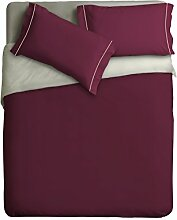 Ipersan zweifarbig Bettbezug pflaume/beige cm.  255x240