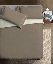 Ipersan zweifarbig Bettbezug taubengrau/beige  cm.  255x240