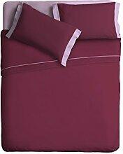 Ipersan zweifarbig Bettwäsche Set Farbe  pflaume/lila  240x290 cm.