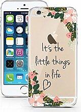 iPhone 6 Hülle aus TPU von licaso® Flower Things Kleinen Dinge im Leben Case transparent klare Schutz-hülle iphone6 Tasche Mobile Phone Case Geschenk Druck Frauen Männer (iPhone 6 6S, Flower Things)