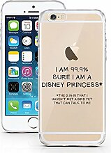 iPhone 7 Hülle aus TPU von licaso® 99.9% Sure Princess Prinzessin Märchen Case transparent klare Schutz-hülle iphone7 Tasche Mobile Phone Case Geschenk Druck Frauen Männer (iPhone 7, 99.9% Sure)