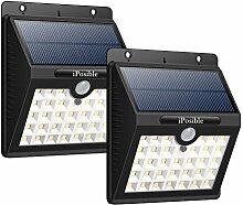 iposible Solarleuchten für Außen, [2 Stück] 33
