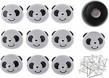 IPOTCH 10 Satz Niedlichen Panda Magnetischen