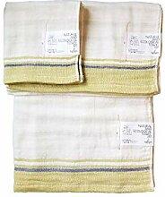 IPPINKA Japanisches Handtuch, 3er Set, ultraweich,