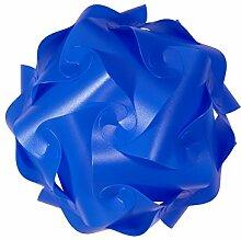IQ Puzzle Lampe Retro Farbe: Blau - Größe: XL / ca. 42cm - Design Designer Lampada Hängelampe Romantica - Puzzellampe