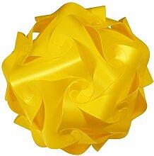 IQ Puzzle Lampe Retro Farbe: Gelb - Größe: M / ca. 24cm - Design Designer Lampada Hängelampe Romantica - Puzzellampe