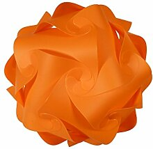 IQ Puzzle Lampe Retro Farbe: Orange - Größe: M / ca. 24cm - Design Designer Lampada Hängelampe Romantica - Puzzellampe