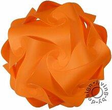 IQ Puzzle Lampe Retro Farbe: Orange - Größe: XL / ca. 42cm - Design Designer Lampada Hängelampe Romantica - Puzzellampe