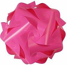 IQ Puzzle Lampe Retro Farbe: Pink - Größe: M / ca. 24cm - Design Designer Lampada Hängelampe Romantica - Puzzellampe