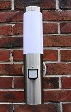IR Wand-Außenleuchte mit Bewegungsmelder Edelstahl IP44 Außenlampe Sensor Bewegungssensor Infrarot Hoflampe Gartenlampe Gartenleuchte 1003-pir wandlampe