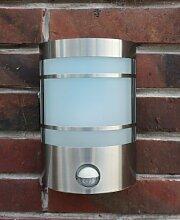 IR Wand-Außenleuchte mit Bewegungsmelder Edelstahl IP44 Außenlampe Sensor Bew...