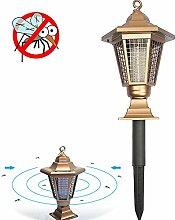 iRegro Solar Insektenkiller Lampe, Solarleuchte Insektenvernichter Camping Insektenschutz Lampe, Garten Dekorative Licht, Bug Zapper, Insektenabwehr für draußen Universalschutz und Dekoration