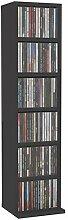 Irfora Bücherregal CD Schrank DVD Regal 6 Fächer