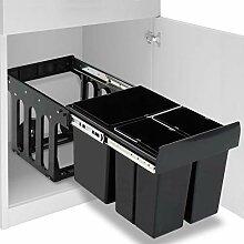 Irfora Einbaumülleimer Küche 48 L Mülleimer