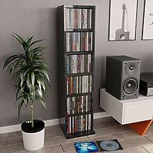 Irfora Medienregal CD Schrank DVD Regal 6 Fächer