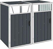 Irfora Mülltonnenbox für 2 Mülltonnen Gartenbox