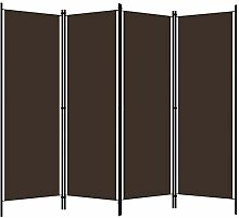 Irfora Paravent Raumteiler 4 Teilig Trennwand