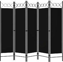 Irfora Paravent Raumteiler 5 Teilig Trennwand