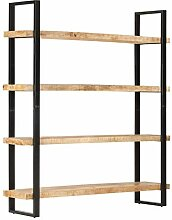 Irfora Standregal Bücherregal Holz Lagerregal