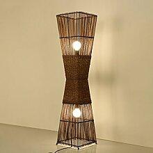 Irgendeine Heimatlampe Chinesische Rattan Tisch Stehleuchte, 138CM hohe Lampe, geeignet für Wohnzimmer, Schlafzimmer, Gang, Hotel, ( Farbe : A )