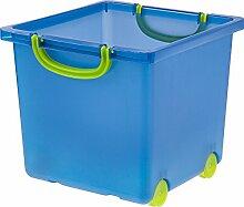 Iris Toy Storage Box, 6 Pack, Blue