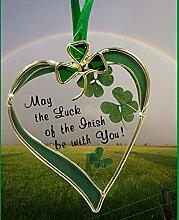 Irischer Sonnenfänger – Glas Herz Sonnenfänger