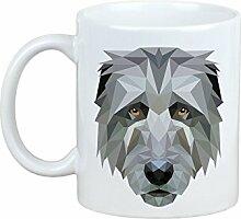 Irischer Wolfshund, Becher mit einem Hund, Tasse, Keramik, neue geometrische Sammlung