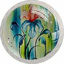 Irises in Bloom Schubladenknöpfe aus Glas für