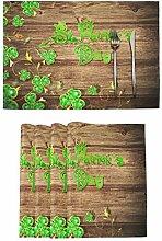 Irish Luck St. Patrick's Day Tischsets Set von