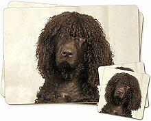 Irish Water Spaniel Dog Zwillings Platzdeckchen