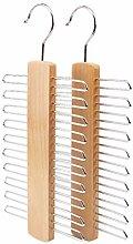 Irjdksd Krawattenhalter aus Holz, 20 Stangen, für