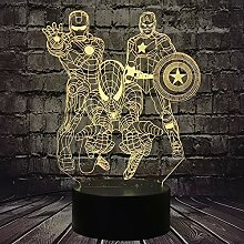 Iron Man Cartoon Spiderman Licht The Avengers Hero