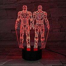 Iron Man LED 3D-Lampe Illusion Touch Nachtlicht
