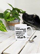 Iron Man Triathlon Geschenk Kaffee-Haferl