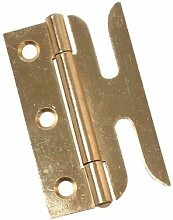 Ironmongery World® 1Paar Schlitz Fensterflügel Fenster Scharnier–75mm, Messing vergolde
