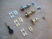 Ironmongery World® 60mm massiv Messing Fenster Tür Sicherheit Einsteckschloss Rack Schrauben Star Lock