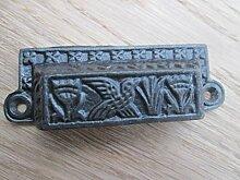 Ironmongery World® Antik Eisen Gusseisen Muschel viktorianischer Bin Cup-Schrank Schublade Tür Griff (Kleiner Vogel Design)