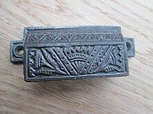 Ironmongery World® Antik Eisen Gusseisen Muschel viktorianischer Bin Cup-Schrank Schublade Tür Griff (Kleine Deko-Kunstvoller)