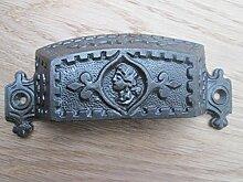 Ironmongery World® Antik Eisen Gusseisen Muschel viktorianischer Bin Cup-Schrank Schublade Tür Griff (Große Vintage)