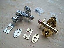 Ironmongery World® Badezimmer Tür Schlossriegel Daumen W/C WC-Lock & notentrieglung in zwei Oberflächen (Messing poliert)
