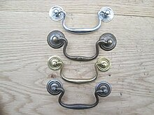 Ironmongery World® Drop Bar Schwanenhals Swing Griff Schrank Schublade Schreibtisch Kommode (Antik Messing antik (dunkel))