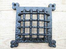 Ironmongery World® Gusseisen Mittelalter Tür Fenster Glas Edelstahldraht/Blende Gitter, Zeitraum Home–Schwarz antik