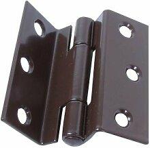 Ironmongery World® Paar Fensterflügel Scharnier und aufgehängt Fensterflügel Fenster 63mm–braun