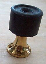 Ironmongery World Podest Tür Stopper Projektierung Sockelleiste Boden Montiert In 2 Vollendet - Poliertes Messing / Gold, Satin Aluminium / Silber - Poliertes Messing/Gold