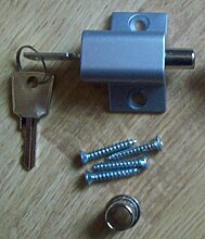 Ironmongery World Schiebe Terrasse Tür Fenster Zusätzlich Sicherheitsverriegelung Fang Pushlock - Silbern
