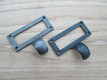 Ironmongery World® Schubladen Plan Brust Schrank Aktenschrank Label Karte Rahmen einfügen Halterung Pull (Silber)