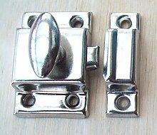Ironmongery World Small 45mm Cupboard Door Thumb Turn Catch Latch Lock In 2 F... by Ironmongery World