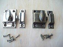 Ironmongery World® Stahl klein 45mm Schrank Tür Daumen Catch Lock-Verriegelung